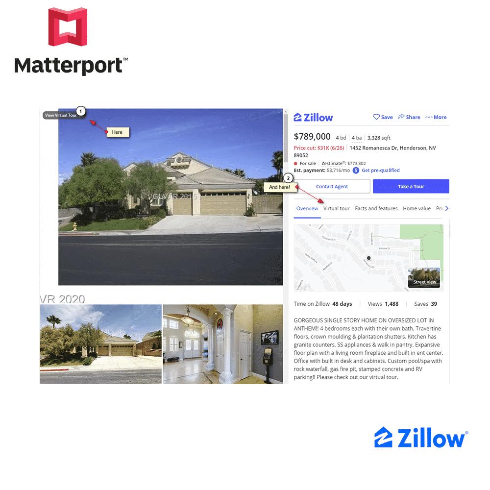 Matterport on Zillow